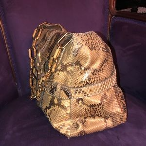 Jimmy Choo python shoulder bag